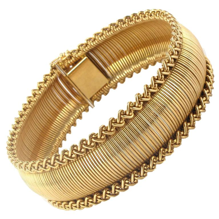 1950s French Gold Bracelet