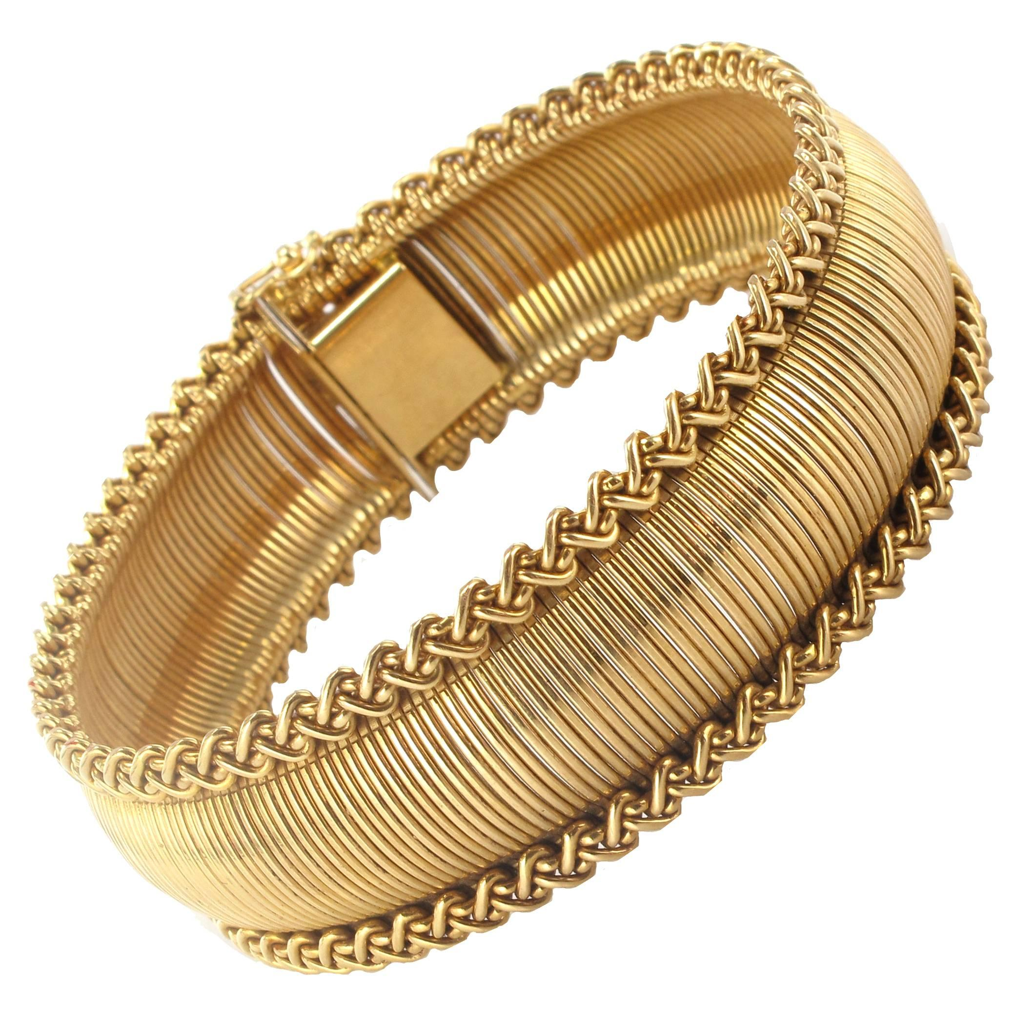 1950s French Gold Bracelet