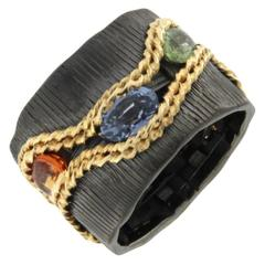Jona Sapphire Sterling Silver Band Ring