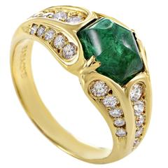 Faraone Mennella Emerald Diamond Gold Ring
