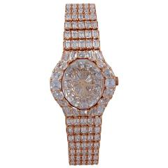 "Piaget Ladies Yellow Gold Diamond ""Aura"" Bracelet Wristwatch"