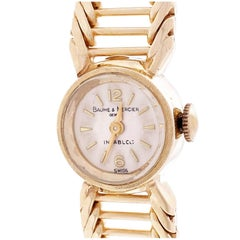 Baume & Mercier Ladies Yellow Gold Manual Wind Wristwatch