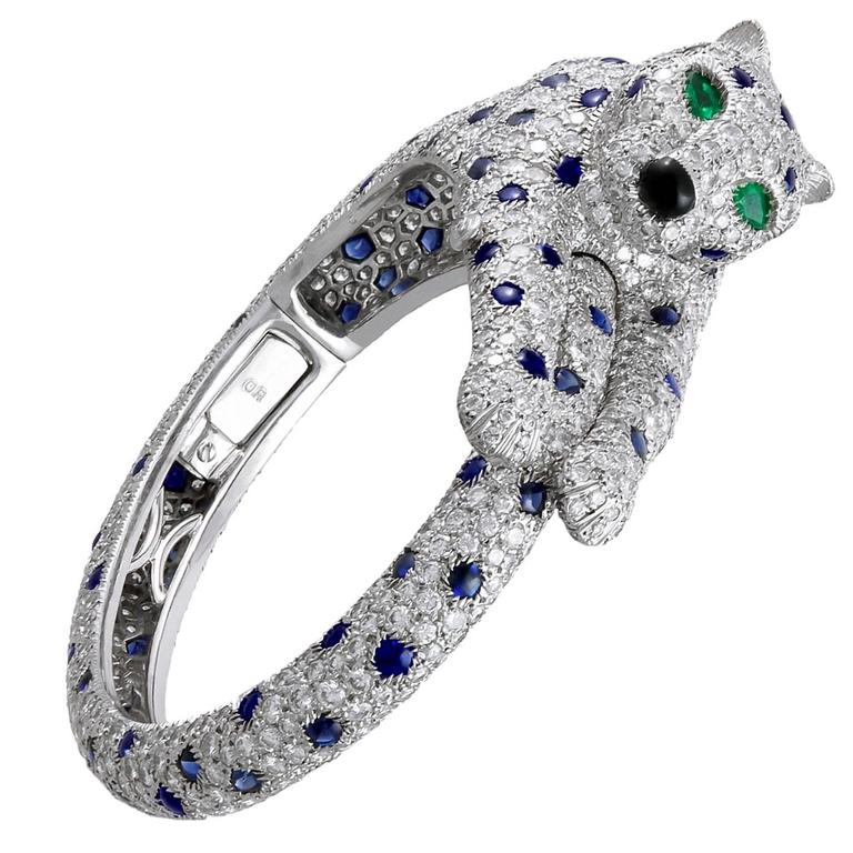 Cartier Diamond Shire Panther Bangle For