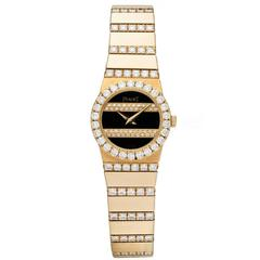 Piaget Ladies Yellow Gold Diamond Polo Quartz Wristwatch