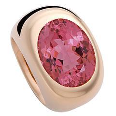 Colleen B. Rosenblat Pink Tourmaline Gold Ring