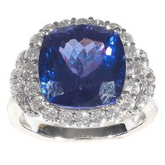 Tanzanite Diamond Gold Engagement Ring