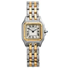 Cartier Ladies Yellow and White Gold Panthere Wristwatch