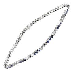 Tiffany & Co. Jazz Sapphire Diamond Platinum Bracelet
