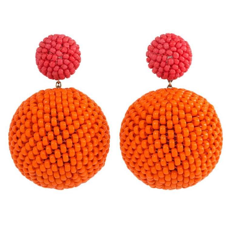 Axel Russmeyer Beaded Double Ball Earrings For Sale