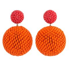Axel Russmeyer Beaded Double Ball Earrings