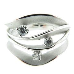 Diamond Gold Dune Ring