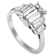 Harry Winston Diamond Platinum Engagement Ring
