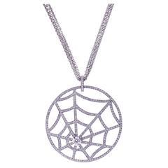 "Chaumet ""Attrape Moi"" Catch Me Spider Web Diamond Necklace"
