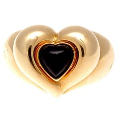 Van Cleef & Arpels Onyx Gold Heart Ring