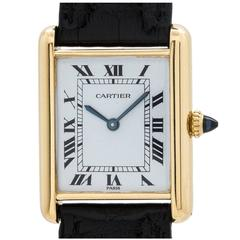 Cartier Yellow Gold Tank Louis Manual Wind Wristwatch
