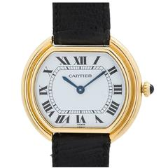 "Cartier Yellow Gold Manual Wind ""Ceinture"" Wristwatch"
