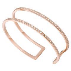 Zaliv Diamond Gold Cuff Bracelet