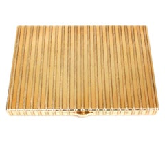 Cartier 18 Karat Gold Rope Cigarette Case