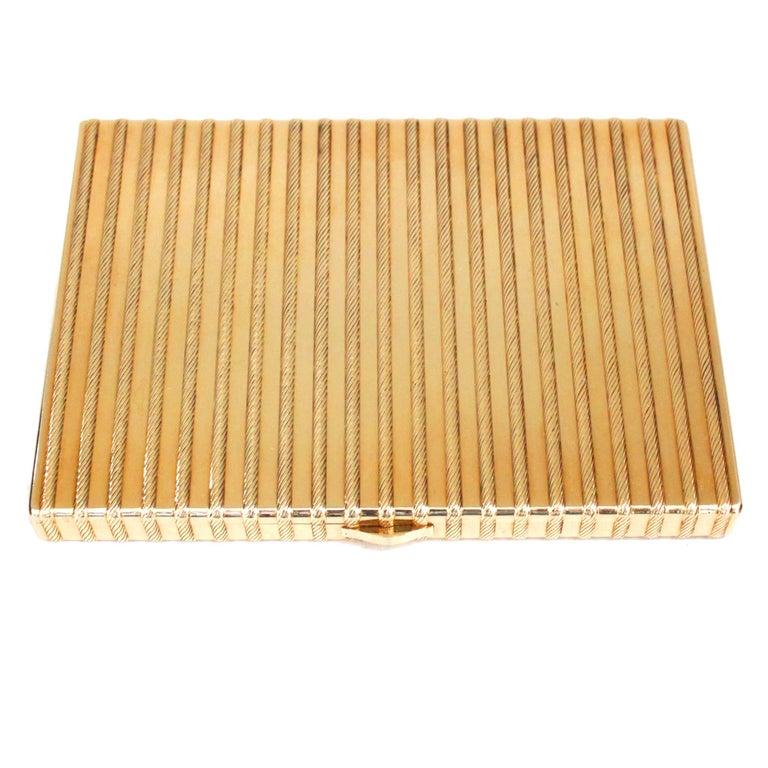 Cartier 18 Karat Gold Rope Cigarette Case For Sale