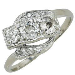 .85 Carat Diamond Gold Ring