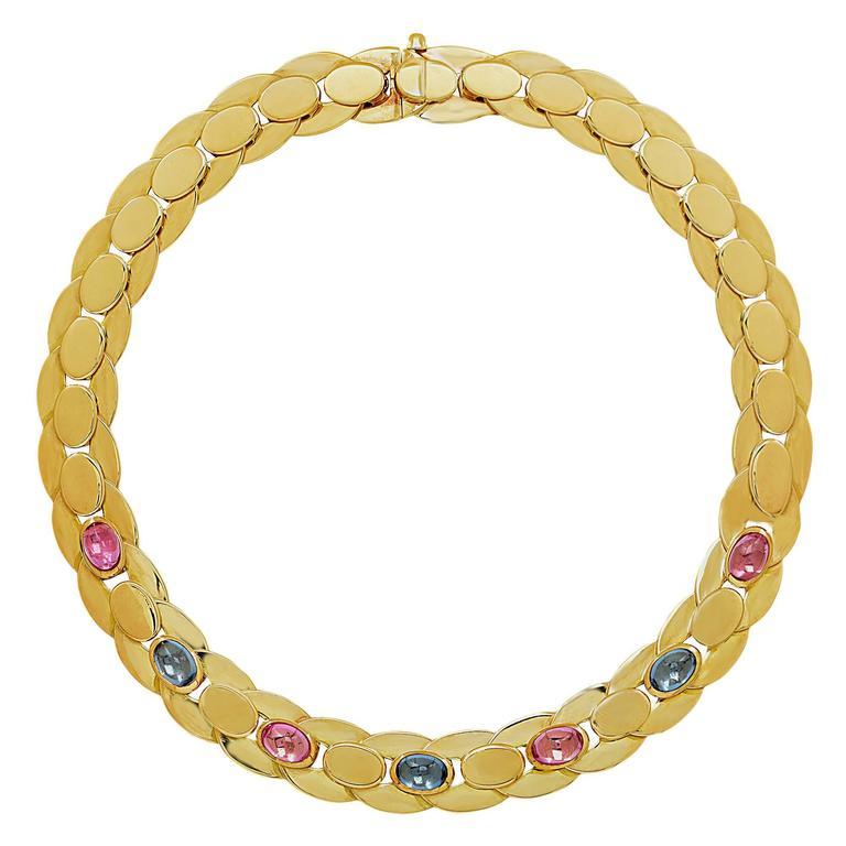 Marina B. Sapphire Gold Necklace