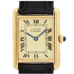 Cartier Vermeil Tank Louis Quartz Wristwatch