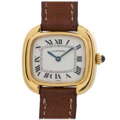 Cartier Ladies Yellow Gold Quartz Wristwatch