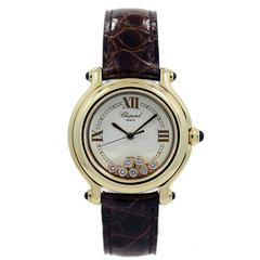 Chopard Ladies Yellow Gold Happy Sport Quartz Wristwatch