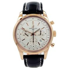 Breitling Rose Gold Transocean Chronograph Wristwatch