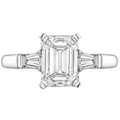 Betteridge 2.01 Carat Emerald-Cut Diamond Platinum Engagement Ring