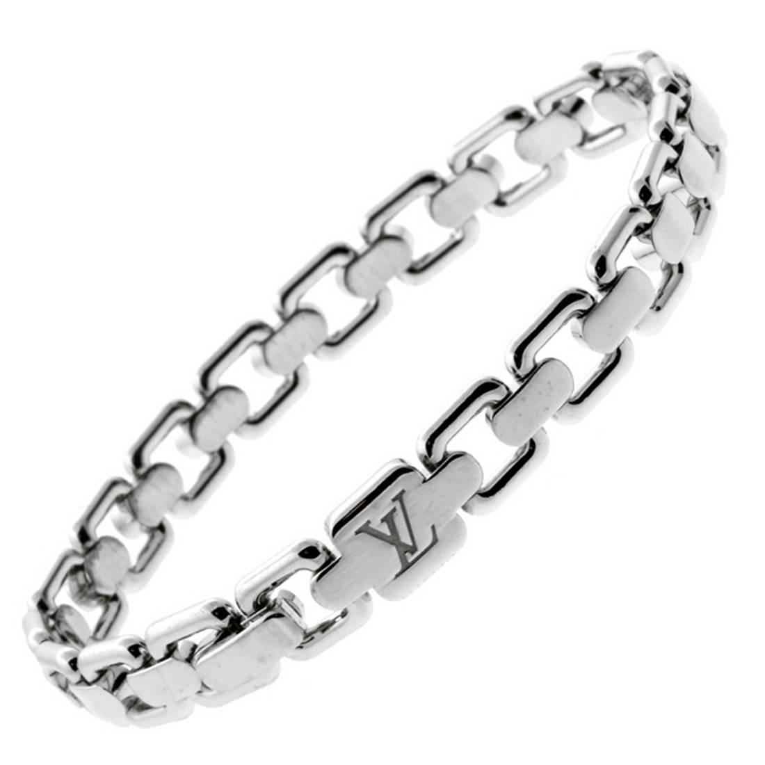 Louis Vuitton Gold Link Charm Bracelet