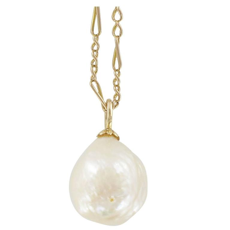 Blister Pearl Gold Pendant  1