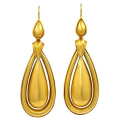 Victorian Gold Pendant Earrings