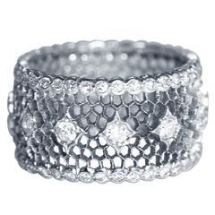 "Buccellati Diamond Gold ""Tulle"" Band Ring"