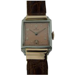 Rolex Rose Gold Stainless Steel Watch