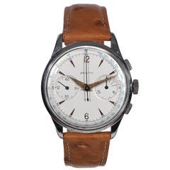 Zenith Stainless Steel Chronograph Wristwatch