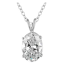 10.07 Carat GIA Certified Oval Shape Diamond Set in Gold Pendant