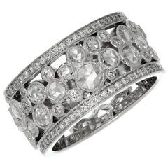 Tiffany & Co. Cobblestone Diamond Platinum Band Ring