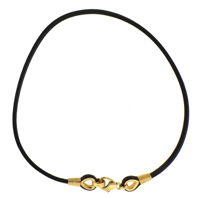 bulgari gold leather cord necklace at 1stdibs