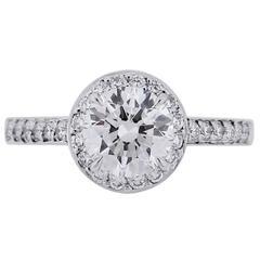 Tiffany & Co. 0.94 Carat Diamond Platinum Engagement Ring