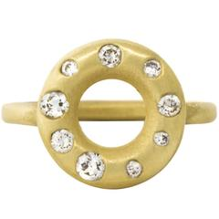 Faye Kim Diamond Gold Lifesaver Ring