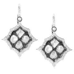 Slice Rosecut Diamond Gold Earrings