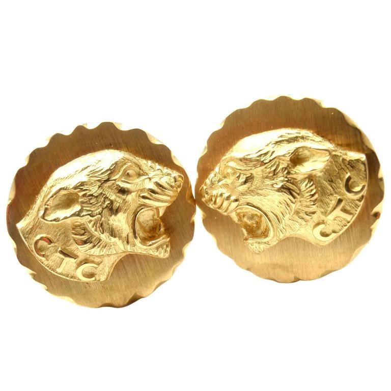 Van Cleef & Arpels Gold Panther Cufflinks