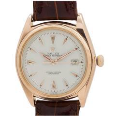 Rolex Rose Gold Datejust Self Winding Wristwatch Ref 4467 1957