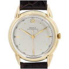 Doxa Yellow Gold Oversize Manual Wind Dress Model Wristwatch