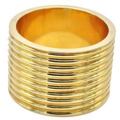 Large Modern Gold Cuff Bracelet