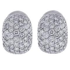 Diamond Gold Button Earrings