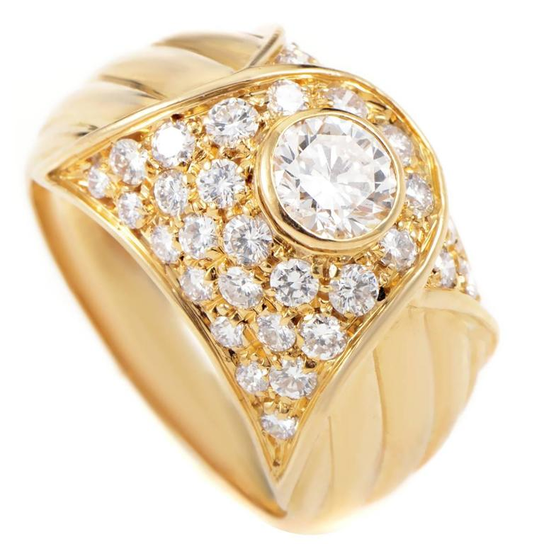 Piaget Diamond Gold Band Ring For Sale