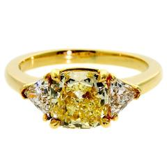 Cartier Fancy Intense Yellow Diamond Gold Ring
