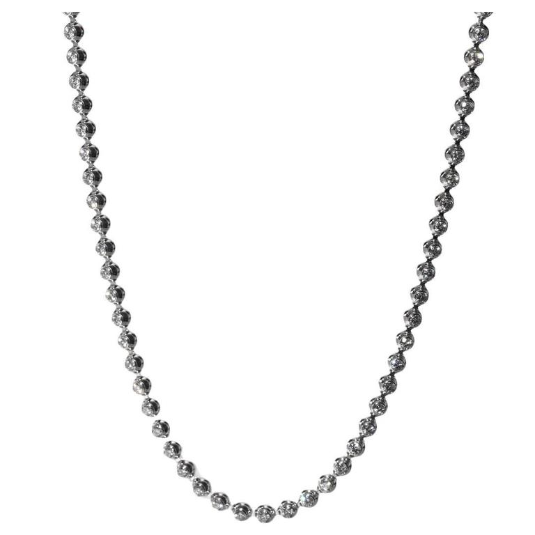 Cartier Diamond Gold Tennis Necklace